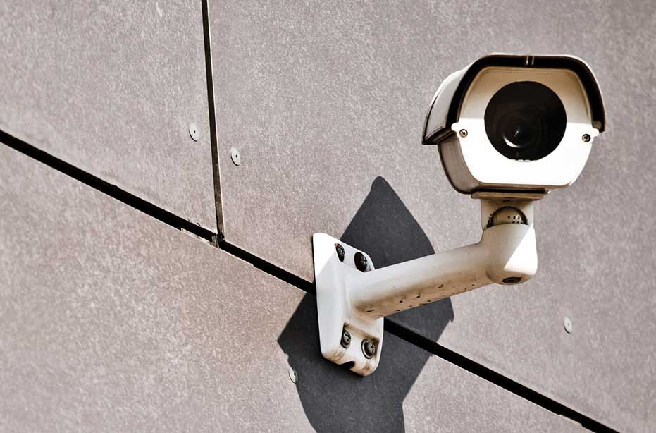 Photograph of CCTV security camera